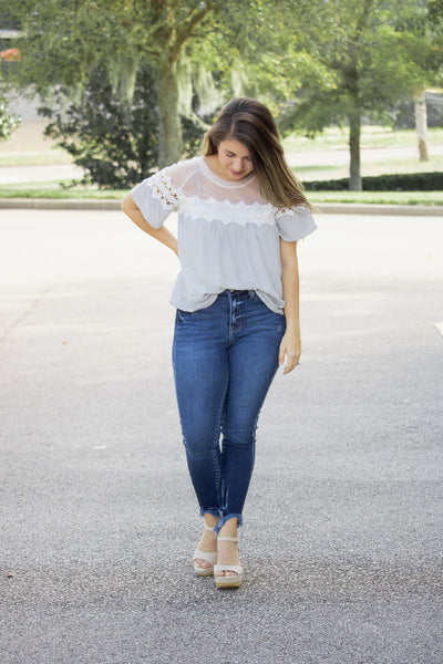 Picture Perfect Lace Crochet Top - Calico's Boutique