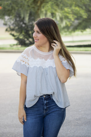 Picture Perfect Lace Crochet Top