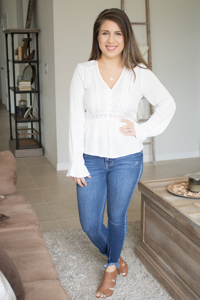 Sweet Spring Crochet Long Sleeve Top - Calico's Boutique