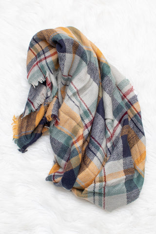 Blanket Scarf (mint) - Calico's Boutique