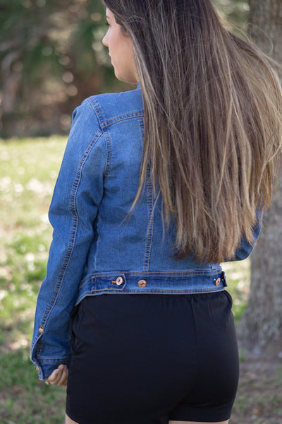 Vintage Cropped Denim Jacket - Calico's Boutique