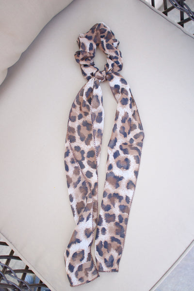 Leopard Hair Scrunchie Scarf - Calico's Boutique