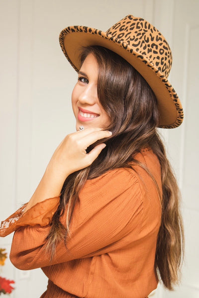 Leopard Hat (brown)