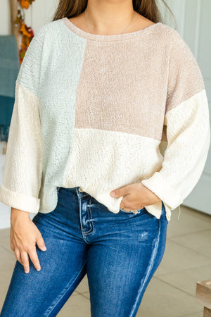 Shades Of Fall Color Block Sweater
