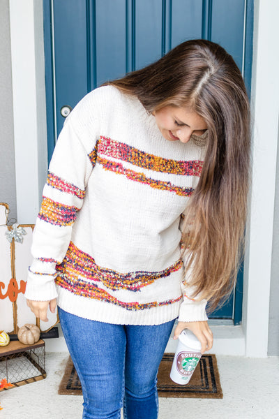 Falling Leaves Textured Sweater