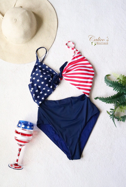American Flag One Piece - Calico's Boutique