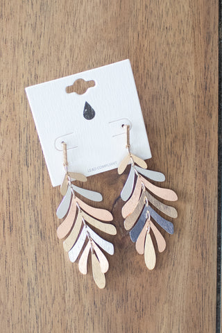 Leaf Drop Earrings (multi)