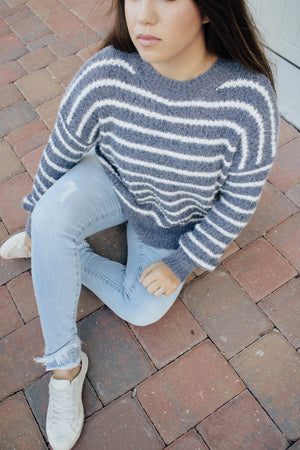 Warm And Fuzzy Striped Sweater