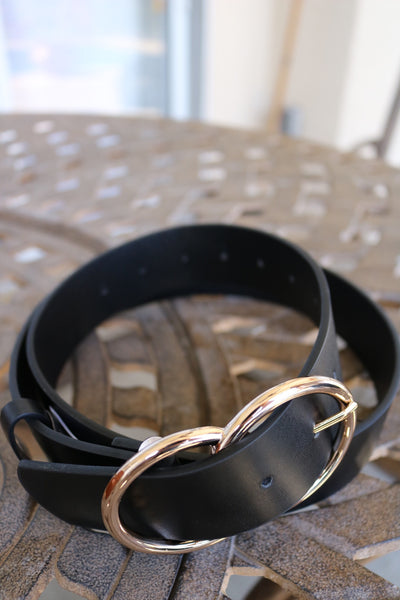 Double Ring Belt (black/gold) - Calico's Boutique
