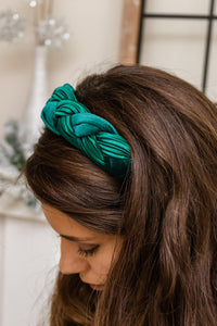 Braided Green Headband