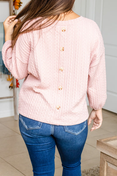 Zig Zag Button Back Sweater