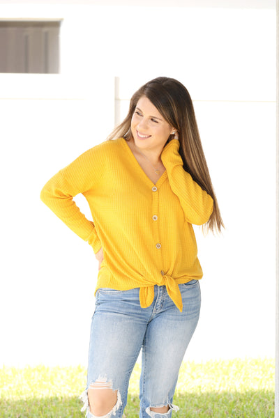 Fall Breeze Button Front Top
