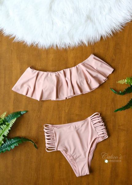 Blushing Beauty High Waist Bikini - Calico's Boutique