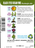 Black-Eyed Susan Vine Seed Packet Back