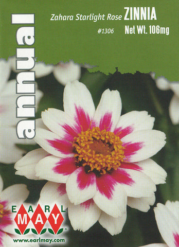 Zahara Starlight Rose Zinnia Seeds