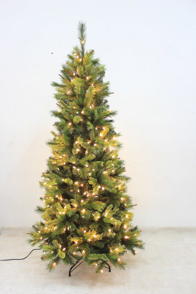 6.5FT Slim Forest Pine with LED Lights - Ship to Store - Pickup In Store Only