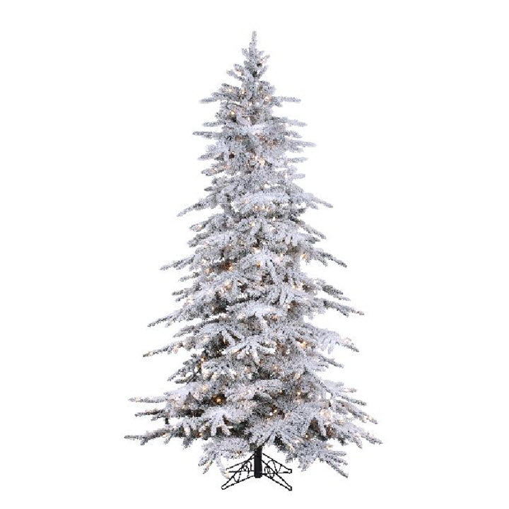7.5FT Flocked Balsam Tree with Stay Lit Lights - Ship to Store - Pickup In Store Only