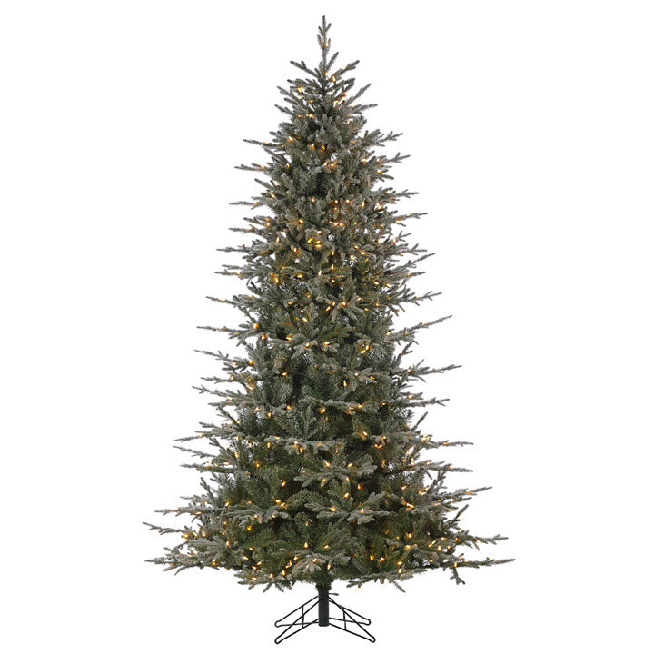 7.5FT Flocked Brighton Spruce with Stay Lit Lights - Ship to Store - Pickup In Store Only