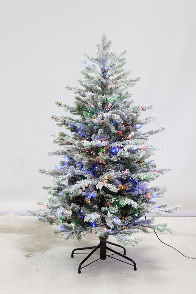 4.5FT Flocked Kelford Narrow Dual Function Tree - Ship to Store - Pickup In Store Only