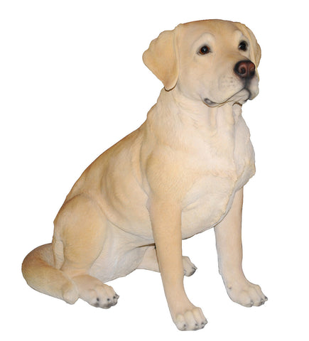 Sitting Golden Labrador Statue