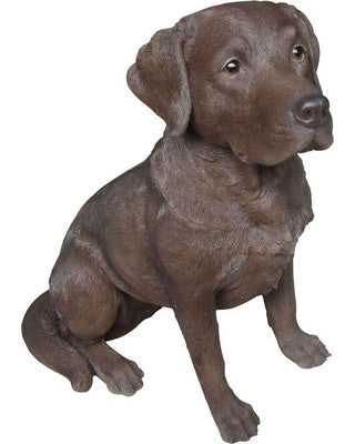 Sitting Chocolate Labrador Statue