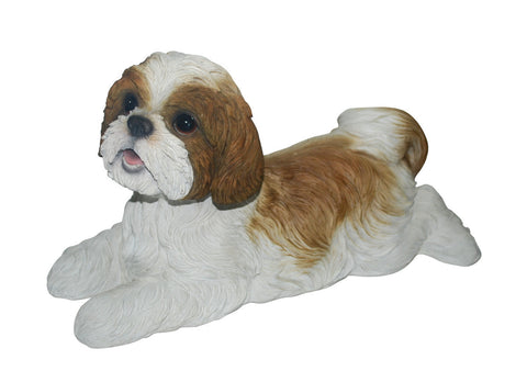 Laying Shih-Tzu Dog Statue