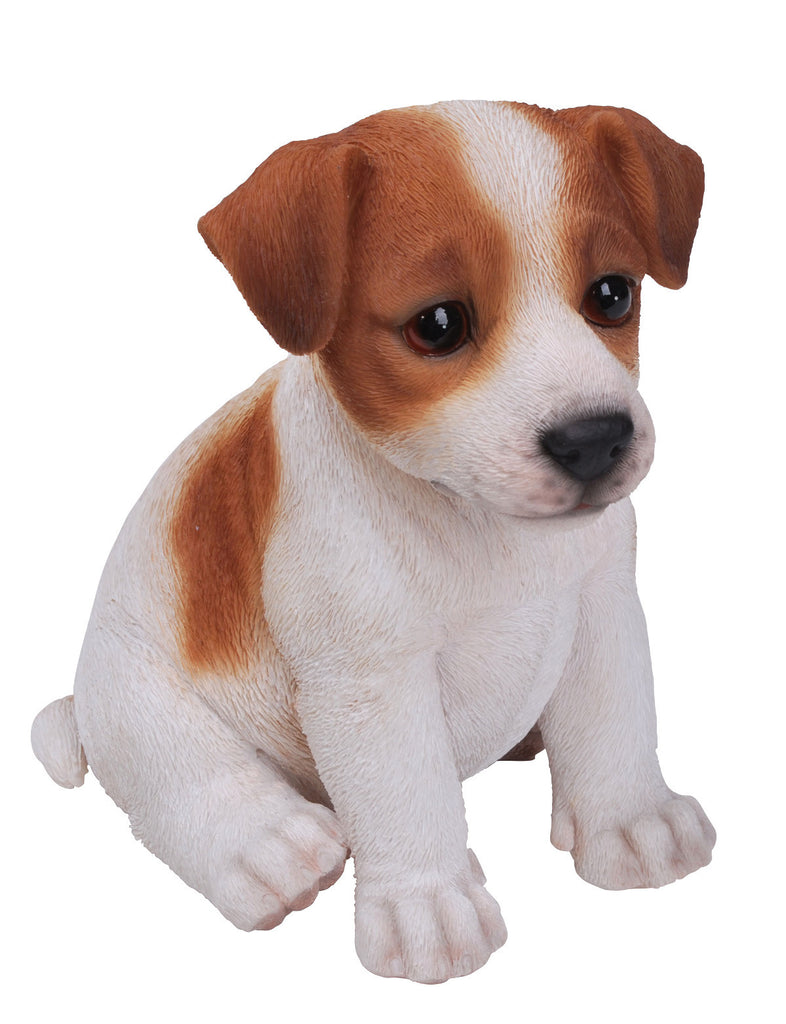 Sitting Jack Russell Puppy Statue