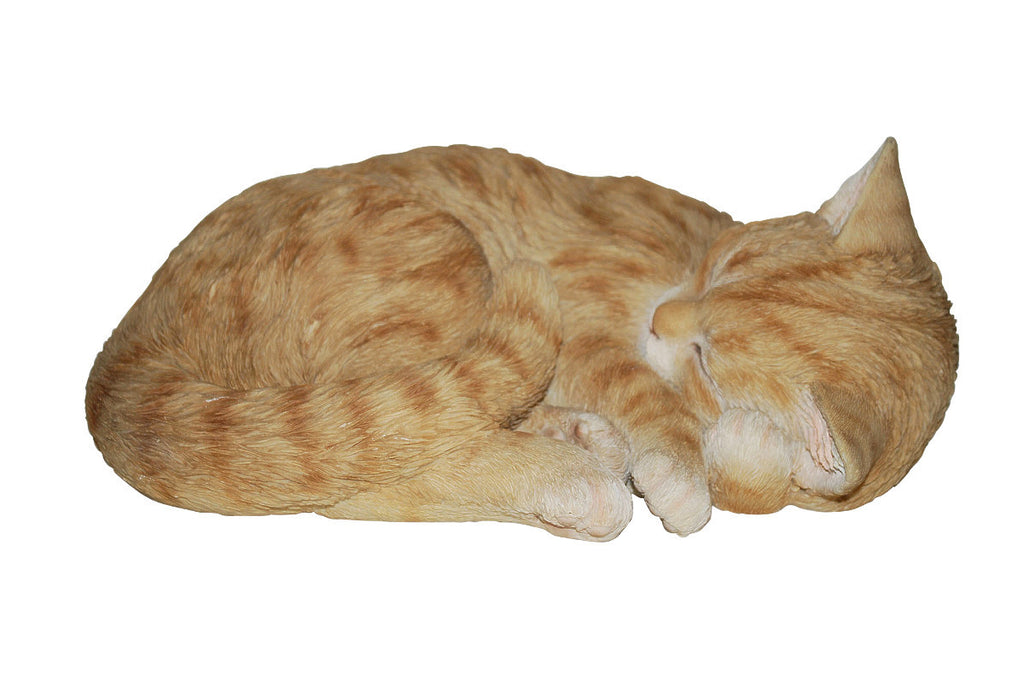 Sleeping Ginger Cat Statue