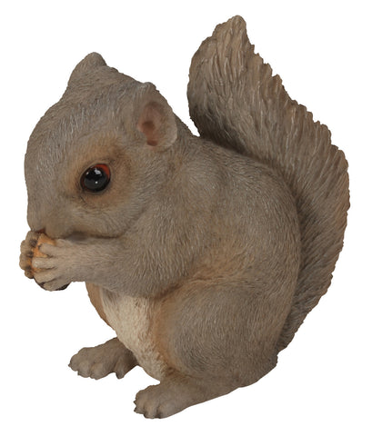 Baby Grey Squirrel Statue