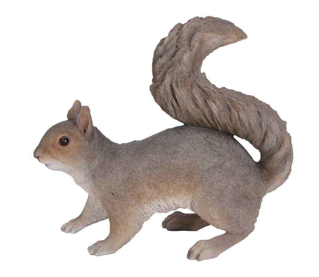 Standing Grey Squirrel Statue
