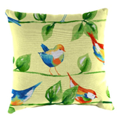 Throw Pillow - Curious Bird Yellow