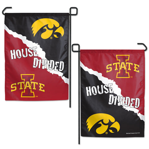 Iowa/Iowa State House Divided Garden Flag