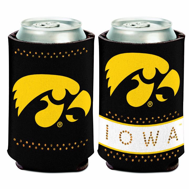 Iowa Hawkeye Bling Can Cooler