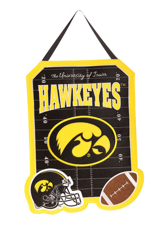 Iowa Hawkeye Door Decor