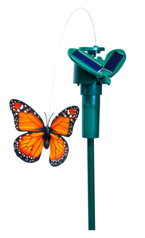 Solar Powered Fluttering Butterfly - Assorted Colors