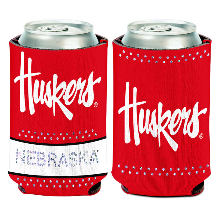 Nebraska Bling Can Cooler