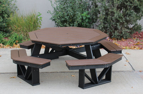 in store only octagon picnic table