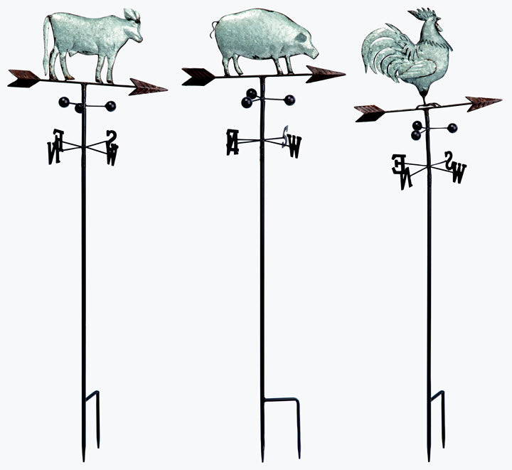 Farm Animal Weathervane Stake