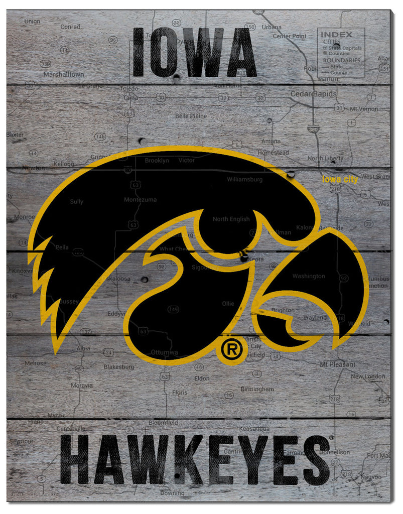 Iowa Hawkeye Pallet Decor
