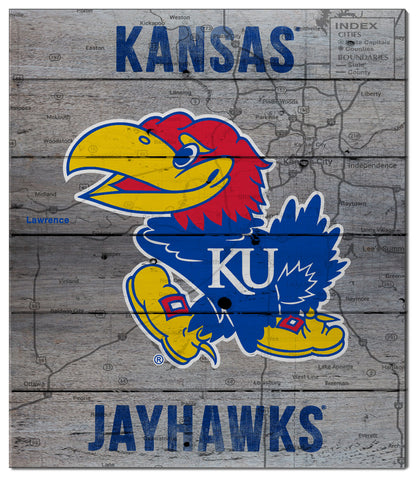 Kansas Jayhawks Pallet Decor