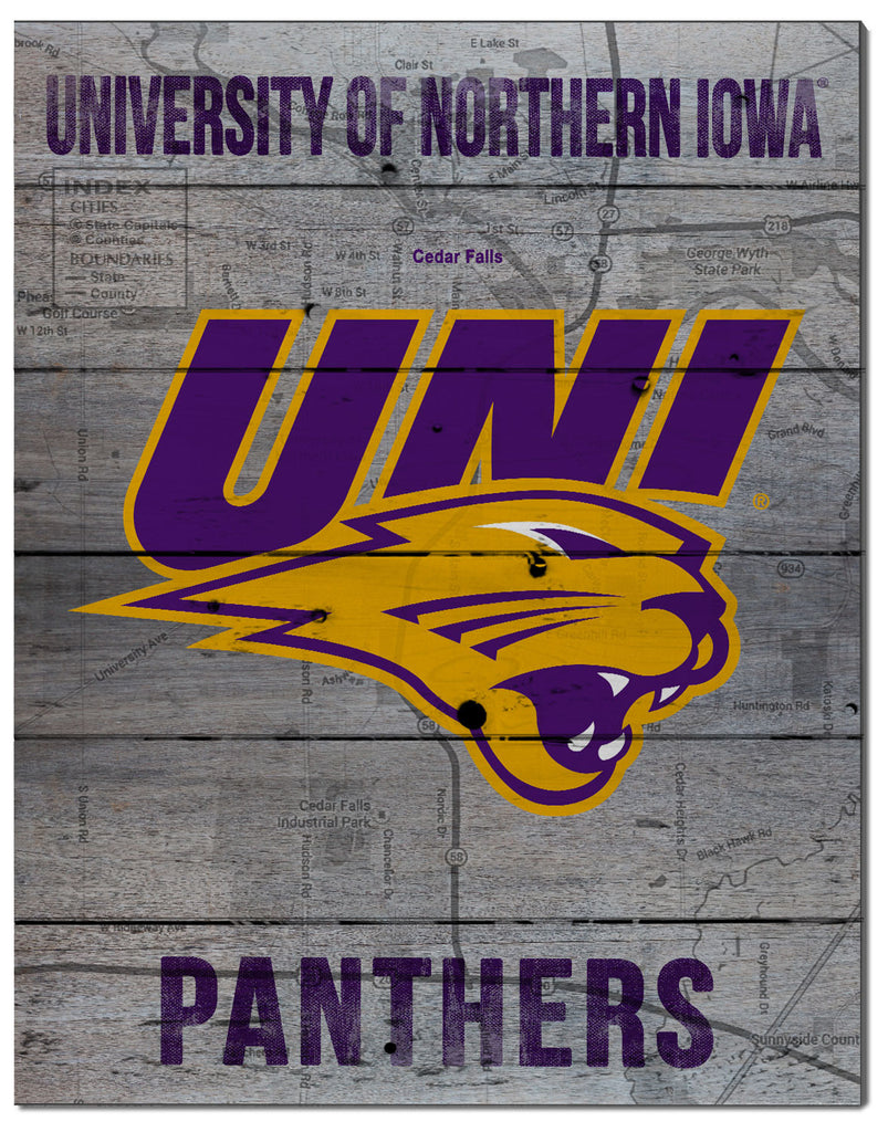 UNI Panthers Pallet Decor