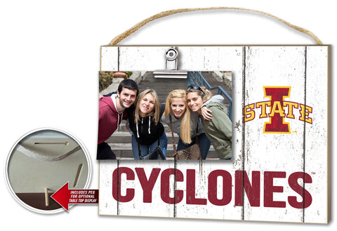 Iowa State Cyclone Clip It Plaque