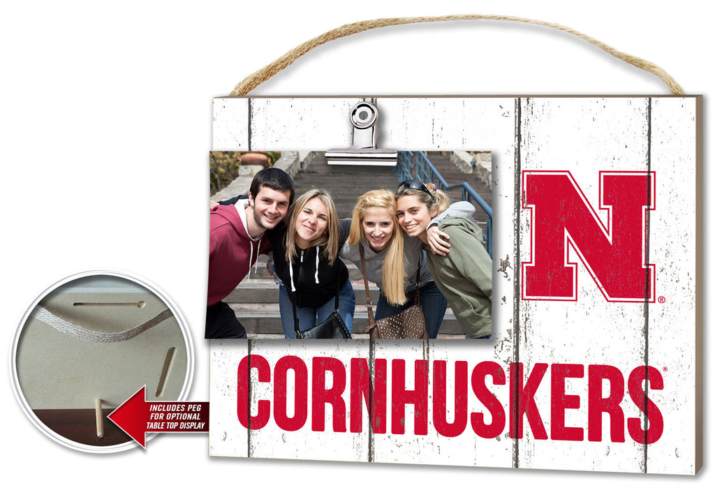 Nebraska Cornhuskers Clip It Plaque