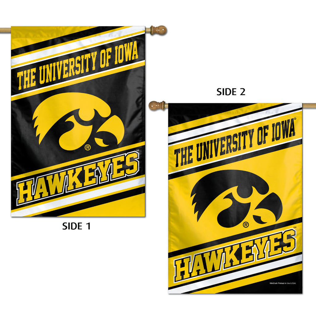 Iowa Hawkeyes Vertical Flag