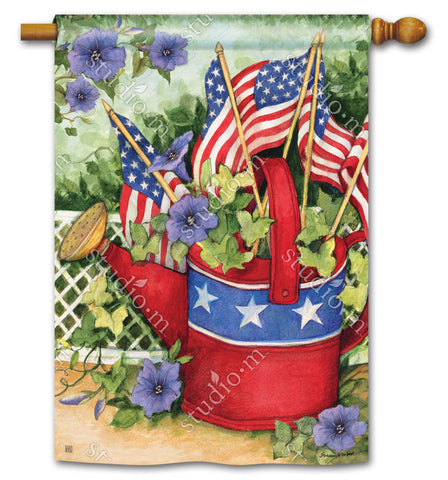 Art Flag - Patriotic Watering Can