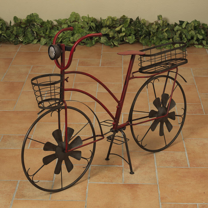 Red Antique Bike with Solar Light - Ship to Store - Pickup In Store Only
