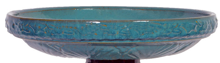 Turquoise Birdbath Top Only - Ship to Store - Pickup In Store Only