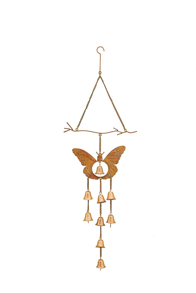 Copper Butterfly Windbell Chime