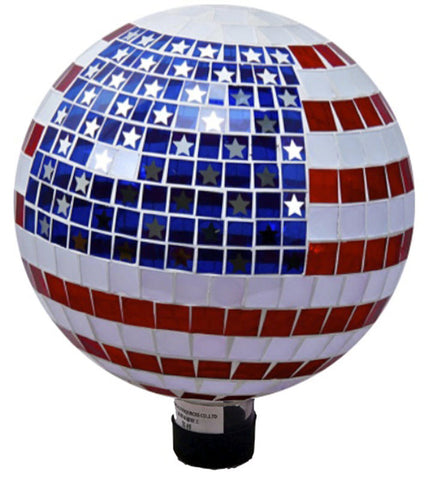 Mosaic Stars & Stripes Gazing Ball