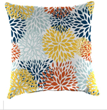 Throw Pillow - Yellow Blooms